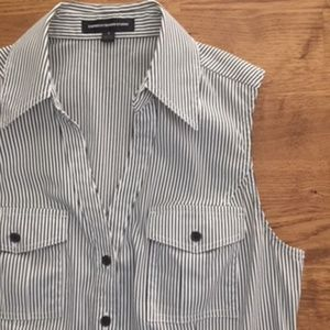 NWOT Express Design Studio Stripe Button Down